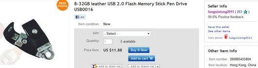 8-32GB leather USB 2