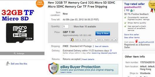 New 32GB TF Memory Card 32G Micro SD SDHC Micro SDHC Memory Car TF Free Shipping
