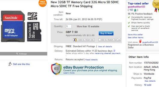 New 32GB TF Memory Card 32G Micro SD SDHC Micro SDHC TF Free Shipping