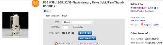 USB 8GB,16GB,32GB Flash Memory Drive Stick Pen Thumb USB0014