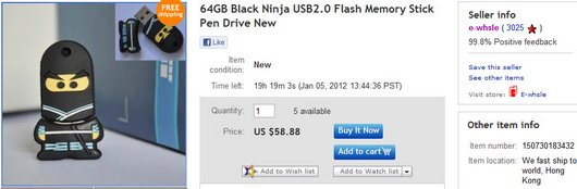 64GB Black Ninja USB2