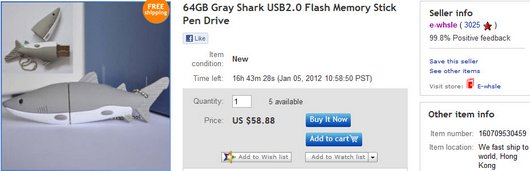 64GB Gray Shark USB2