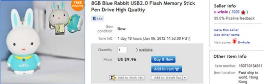 8GB Blue Rabbit USB2