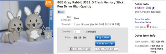 8GB Gray Rabbit USB2