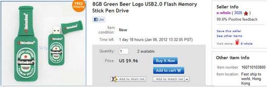 8GB Green Beer Logo USB2